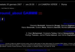 GAMMM a Roma il 20 gennaio 2007, in Camera verde