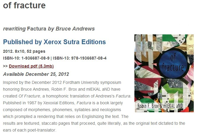 of fracture