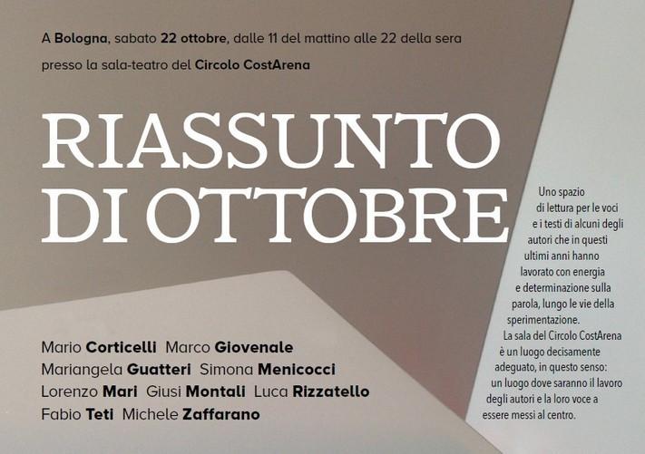 sabato 22 a bologna: riassunto di ottobre
