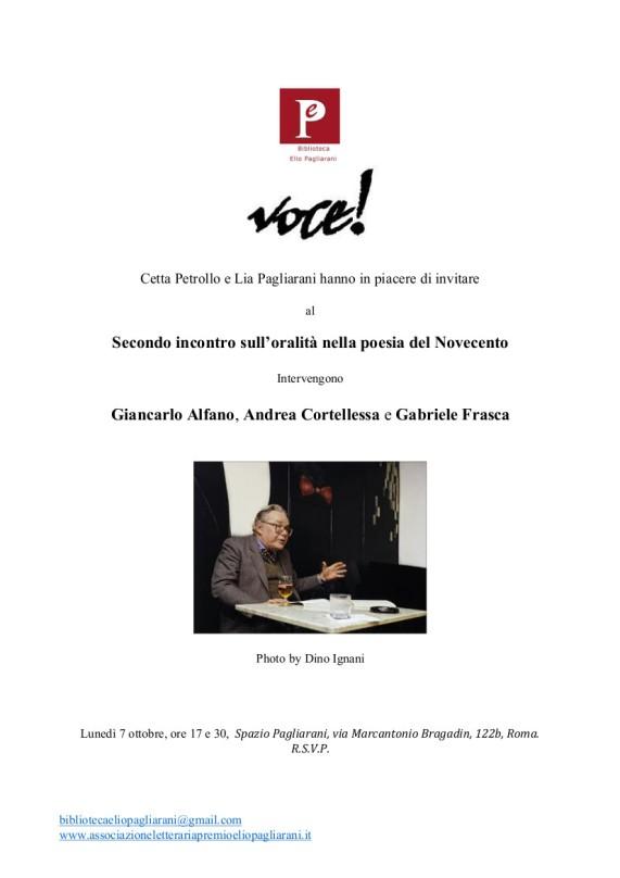 Invito 7 Ottobre 2019 Pagliarani