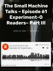 small machine talks / experiment-o / amanda earl