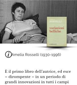 Amelia Rosselli, Variazioni belliche